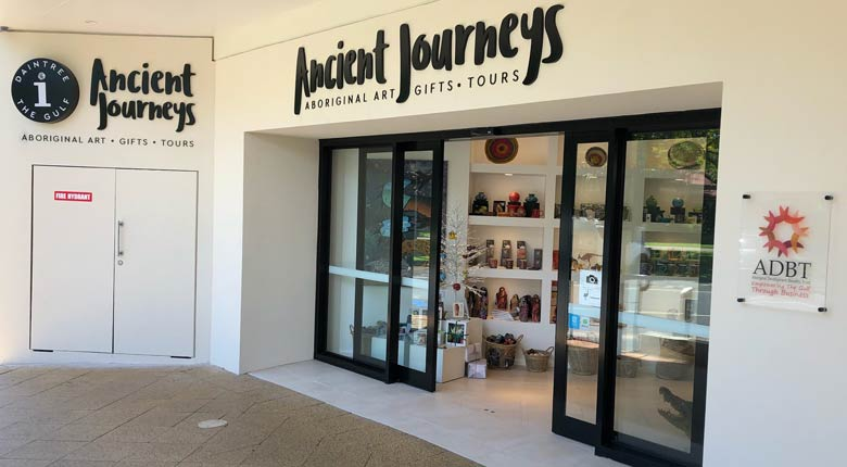 Ancient Journeys Shopfront, Cairns.