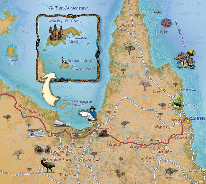 The Lower Gulf - Far North Queensland - Home of Ancient Journeys Artists.